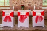 Stuhlhussen / Strechhussen, Hochzeitsdeko