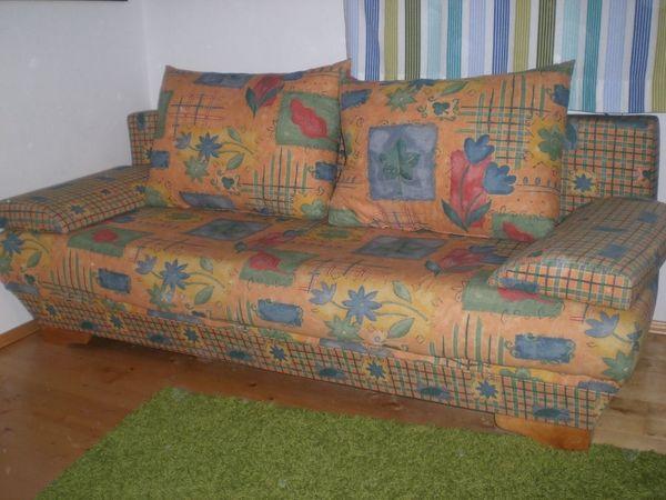Doppelschlafsofa Couch Ausziehbar Sofa Mit Bettkasten Mit Kissen In