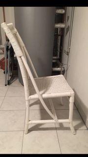 Stühle - Weiss - Rattan