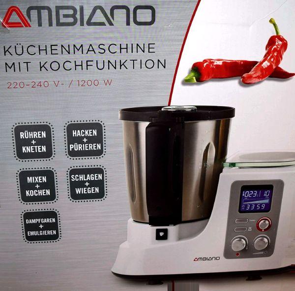 NEU # Ambiano Küchenmaschine mit Dampfgaraufsatz Waage in ...