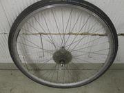 Fahrrad Hinterrad silber 28 zoll