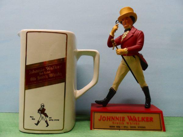 """Johnnie Walker Figur Werbefigur 50/60iger Jahre und Krug - Kanne - Steuerwaldsmühle - Zur """"INFO"""" bitte Text lesen!Achtung, bitte keine lästigen Anfragen """"kaufen sie auch Sachen an?"""".Ich verkaufe wegen Hobby-Aufgabe meine seit ca. 40 Jahren gesammelten und angesammelten Gegenstände!Bei Interesse einfach kontaktieren un - Steuerwaldsmühle"""