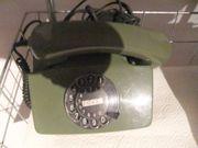 Telefon mit Wählscheibe grün