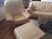 Leder Couch Sofa Echtleder 3
