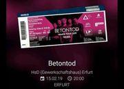 2 Konzertkarten BETONTOD