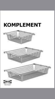 IKEA Komplement Metalldrahtkorb für PAX