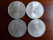 5DM Silbermünzen - komplette