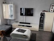 Wohnwand TV-board Highbord Hochvitrine