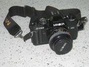 Spiegelreflexkamera MINOLTA X-700 mit viel