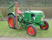 Traktor mit Heckhydraulik