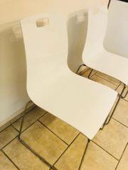6 Stühle weiß hochglanz