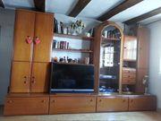 Wohnzimmerschrank mit Sideboard zu verkaufen
