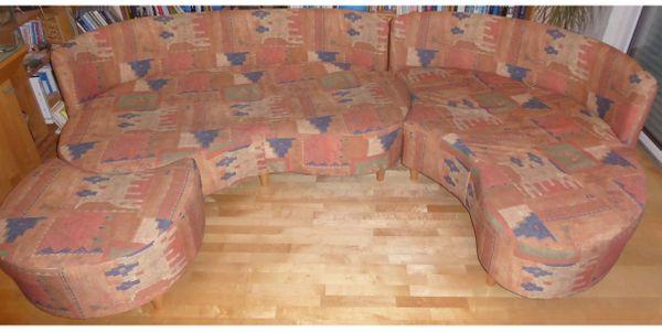 Dreiteilige Wohnlandschaft Mit 5 Kissen In Furth Polster Sessel