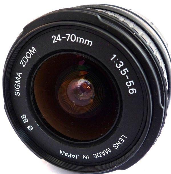 Sigma Zoom Aspherical 24-70mm 24-70 mm 1: 3. 5-5. 6 - München Untergiesing-harlaching - - Sigma Zoom Aspherical 24-70mm 24-70 mm 1:3.5-5.6 3.5-5.6 D für Nikon AF.- Filterdurchmesser 55mm.- Sigma Objektiv.- Für Nikon/ Digital und Analog.- AF und manuelle Scharfstellung. - Incl. Sonnenblende/ohne Objektivka - München Untergiesing-harlaching