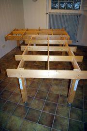 Modelleisenbahn-Anlage-Unterkonstruktion aus Holz