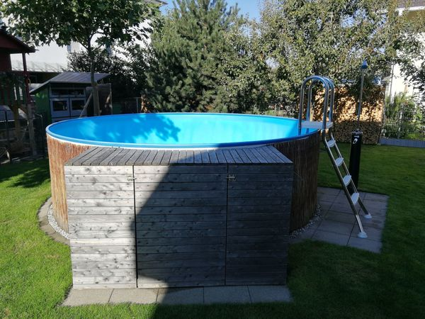 pool komplett set 4m druchmesser 1 2m tief mit allem was ben tigt wird in lustenau sonstiges. Black Bedroom Furniture Sets. Home Design Ideas