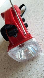 tragbares Radio mit Taschenlampe