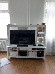 Weiße TV Wohnwand Ikea