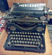 Antiquität Rarität Alte MERCEDES Schreibmaschine