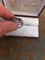 Granat Gold 333 Ring
