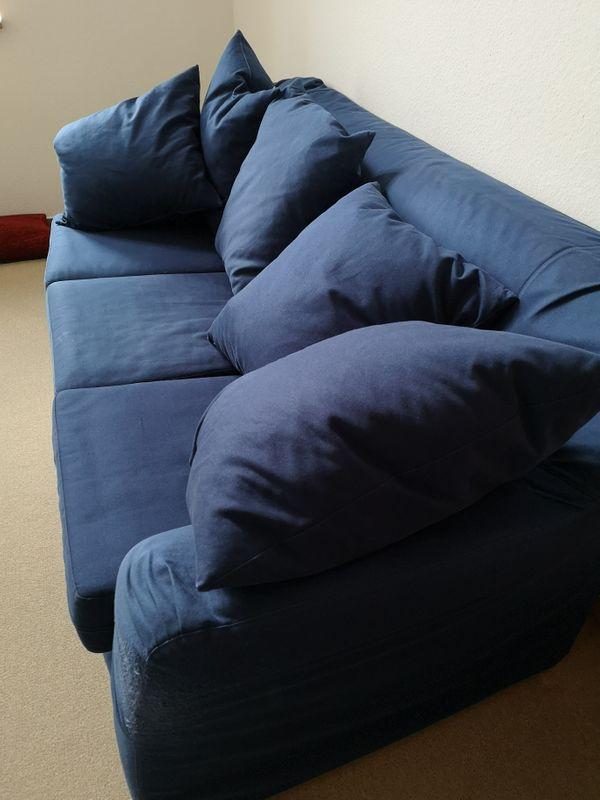 Blaue Couch Dreisitzer Leicht Zu Bewegen In Ronnenberg Polster