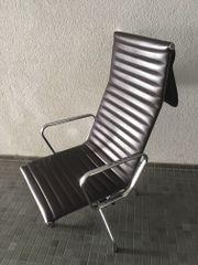 Sessel Aluminium/ Leder