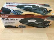 Plattenspieler mit Cassettendeck