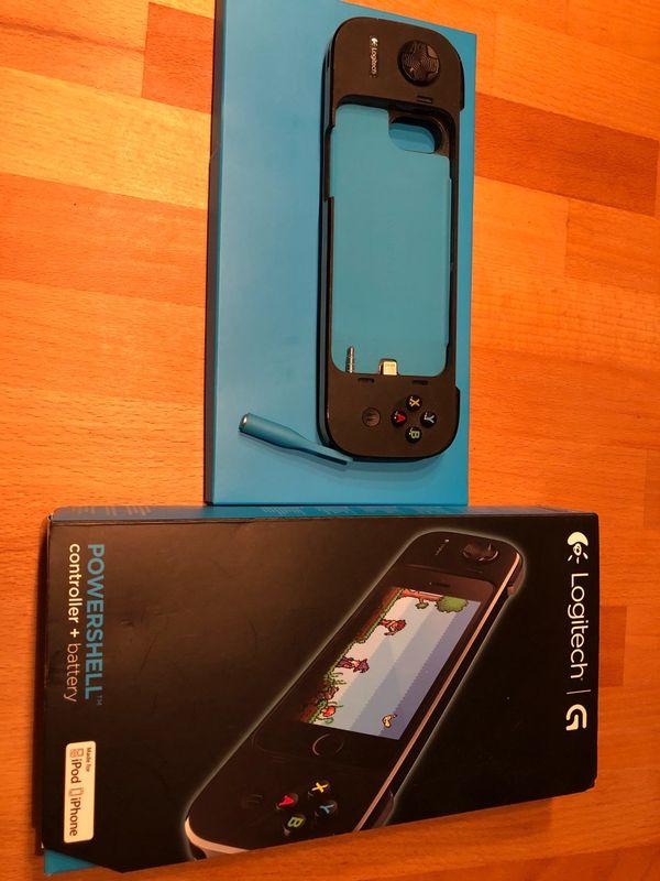Logitech Powershell für iPod und iPhone 5 / 5s - München Obergiesing - Controller von Logitech für iPhone 5/sController + BatterieDas iPhone auf dem Foto ist nicht mit enthaltenSelbstabholung und Barzahlung - München Obergiesing