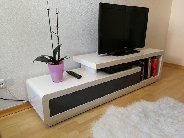 Tv Lowboard Cento Weiß Grau Hochglanz 170 X 45 X 40 Cm In