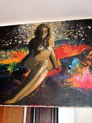 Aktbild Ölbild Gemälde auf Leinwand