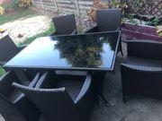 Polyrattan Gartentisch 6 Stühle