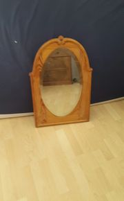 Biedermeier-Spiegel mit Holzrahmen