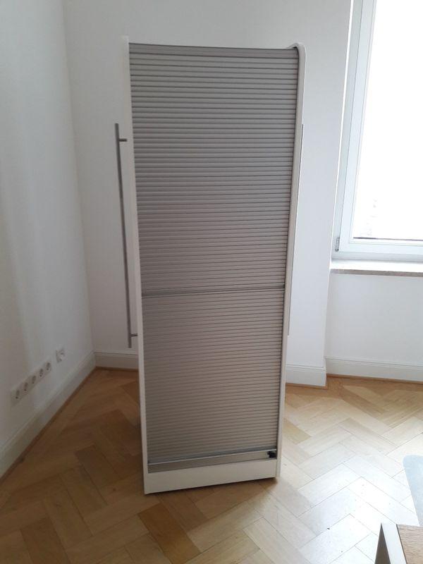 PC- Schrank von IKEA mit Rollo weiß auf Rollen in München - IKEA ...