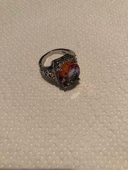 Silber Regenbogenstein Ring