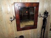 Biedermeier Wandspiegel mit zwei Kerzenhaltern