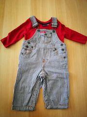 rotes Shirt Größe 62-68 - Latzhose