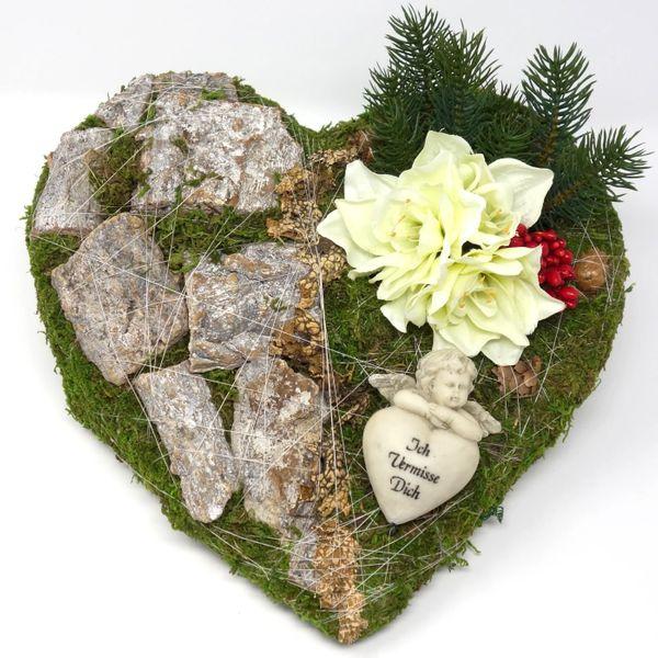 Ausgefallene Grabgestecke Allerheiligen Grabherz Amaryllis