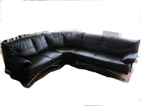 Eck Couch Sofa Cecil Ca 225x260 Schwarz Softlux Kunstleder In
