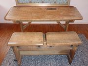 Wunderschöne alte vintage antike original Schulbank Schreibtisch * Shabby gebraucht kaufen  Schondorf