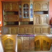 Wohnzimmereinrichtung Holzmöbel Wohnwand Rustikal