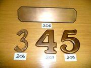 Briefeinwurf Bronze 293 75mm Schlitzmaß