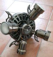 Nostalgie Deckenventilator schwarz metallic mit