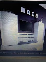 Design Wohnwand weiss schwarz mit