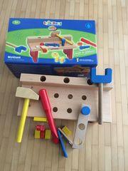 NEU Holz-Kinderwerkbank Spielmaus