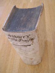 Buch antik Hübner 1709 - Kurze