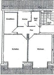 3-Zi-Dachgeschoßwohnung