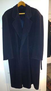 Herren-Mantel schwarz Gr 52 Cashmere
