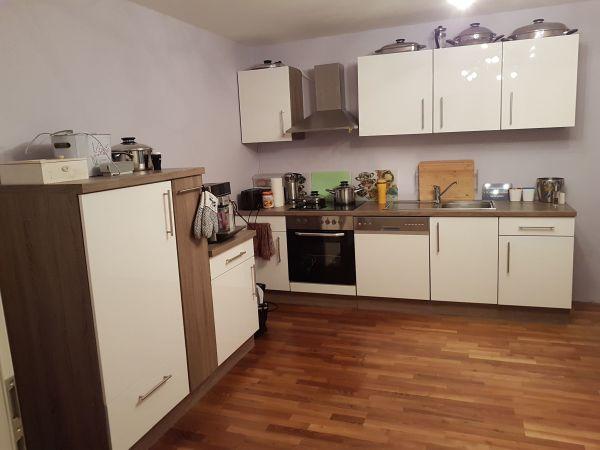 Küche Weiss Hochglanz Mit Sideboard