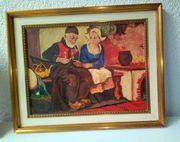 Altes Ölbild Hollandpaar ...