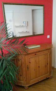Großer Wandspiegel, Vollholz-